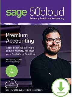 Sage 50cloud Premium Accounting 2019 4 User [PC Download]