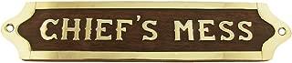Chiefs Mess Brass Door Sign Maritime Ships Plaque