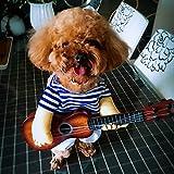 Pet Online Fiesta de disfraces de Halloween mascotas Fancy Dress Up Shirt guitarra marinero gracioso ropa Cosplay,M:28?33cm