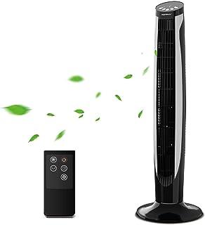 Aigostar Eiffel 33JTT - Ventilateur colonne Ventilateur Tour QuietSet avec télécommande. 3 modes, 3 vitesses, minuteur pro...
