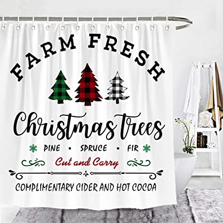 ambesonne christmas shower curtain