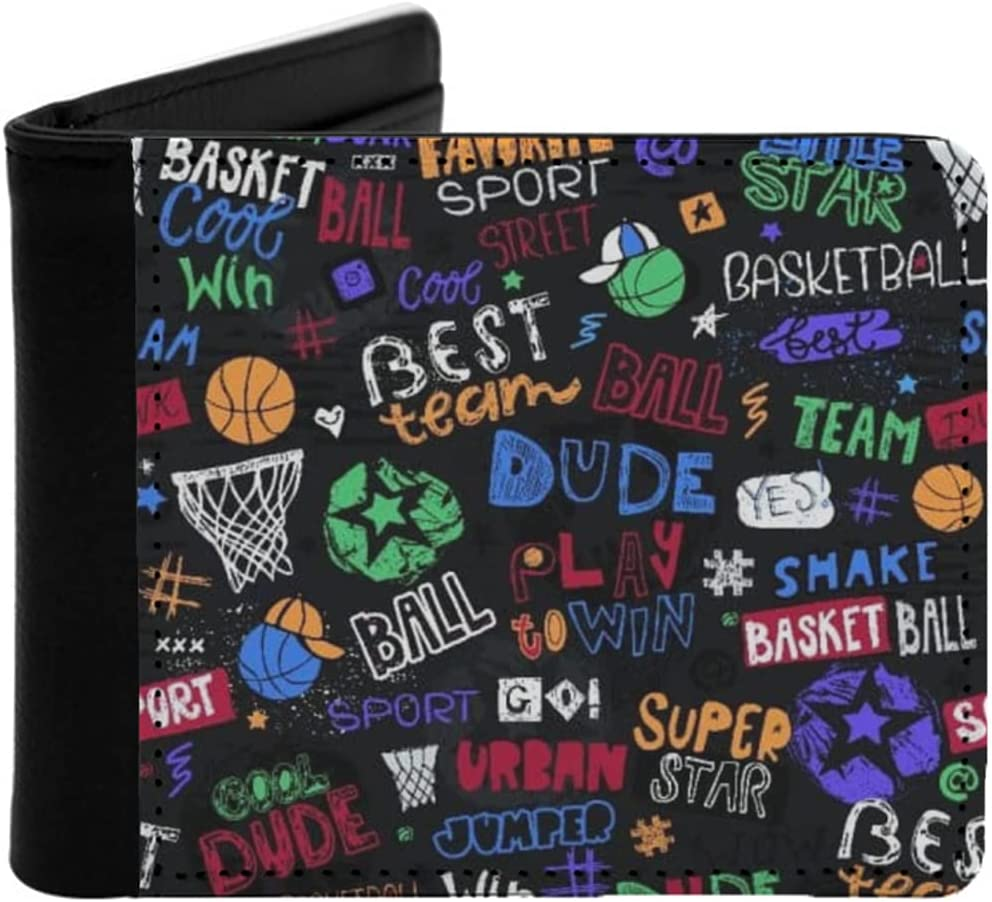 Mens Womens Slim Wallet sketch pattern Low price seamless b Fashionable for basketball