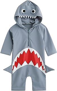 2-6歳 UVカット ラッシュガード ベービー 子供 男の子 女の子 長袖 水着 水泳 スイムウェア かっこいい UPF50+ 紫外線カット (S)