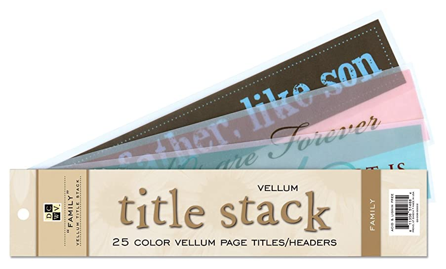 Die Cuts With A View Family Vellum Title Stack