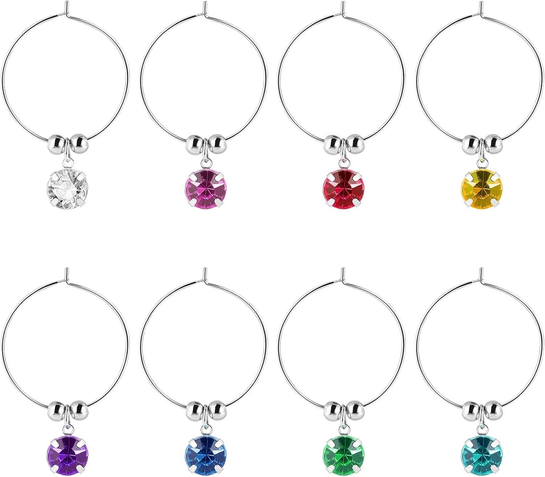 Hemoton Wine Glass Direct sale of manufacturer Charms 8pcs Diamonds Store Mar Colorful