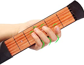 Mini Wooden Pocket Guitar, 6 Fret Portable Guitar Practice Tool Gadget For Beginner Chord Trainer, Chord Fingering Practice Tool #29037