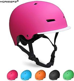KORIMEFA Casco Bicicleta para Niños Ajustable con Certificación CE Resistencia al Impacto con Visera Extraíble para Ciclismo Monopatín Patines sobre Rueda para niños de Edad de 3-13 años