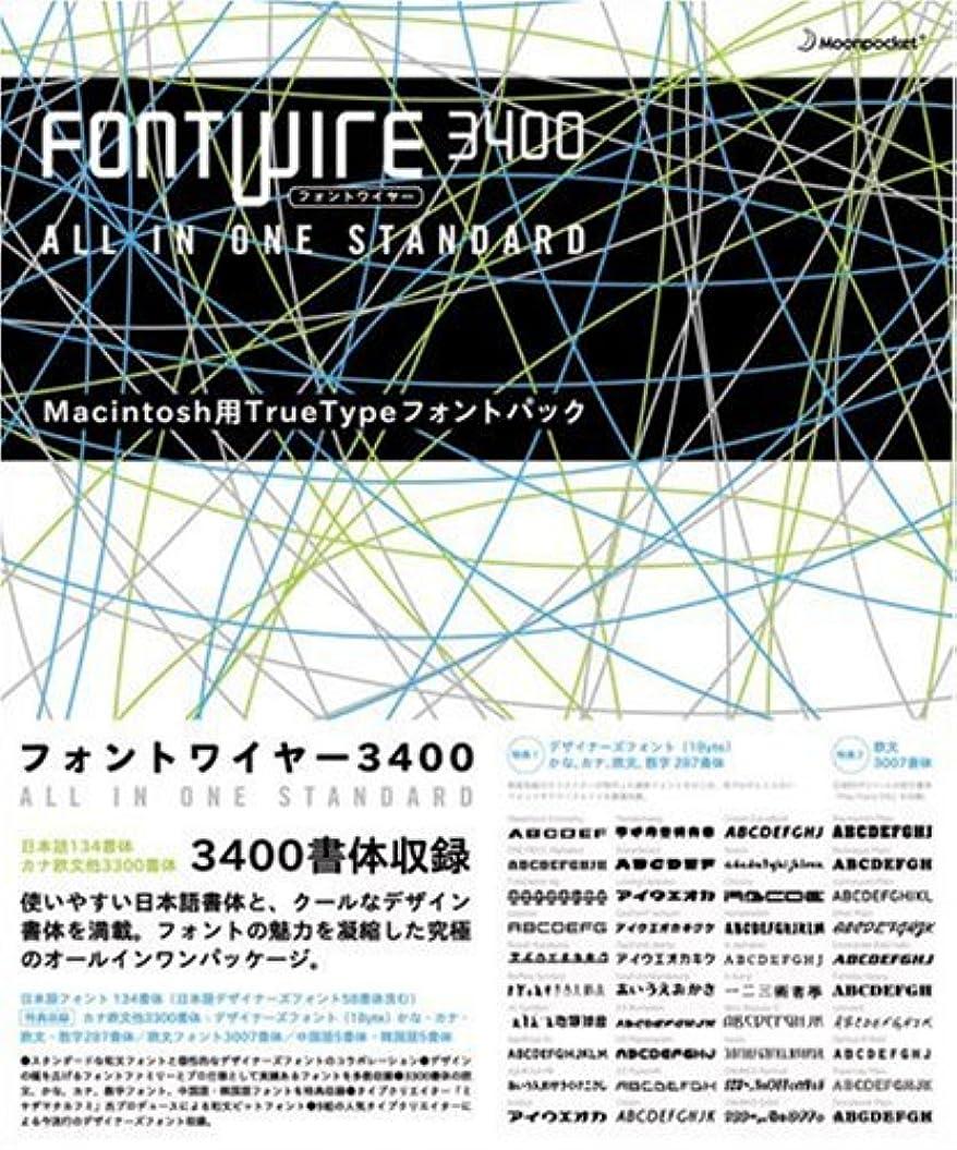 パッケージ見分ける後継FONT WIRE 3400 for Macintosh