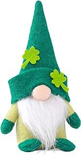 WARTT 1Pcs St. Patrick`s Day Decorations,Cute St Patrick`s Day Gnomes Handmade Faceless Dolls for Irish Saint Paddy`s Day ...