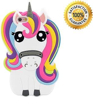 ZCSIBORUI iPhone SE Case, iPhone 5C Case, iPhone 5 5S Case Cover, 3D Cartoon Rainbow Unicorn Kids Girls Silicone Animals Soft Rubber Shockproof Protector Shell Skin for iPhone 5/5S/5C/SE - Unicorn