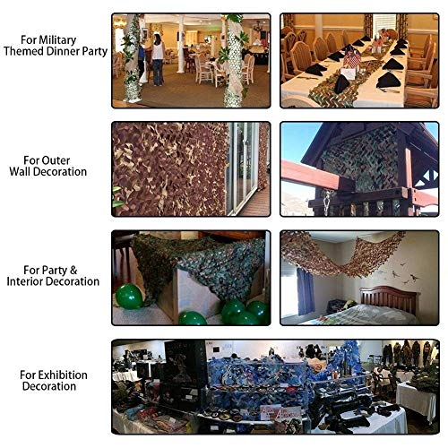 QIANGDA Camouflage Net Camo Netting Army Mesh For Sunshade Decoration Oxford Fabric Hunting Blinds Hide, Different Size (Size : 1.5x2.5m)