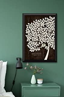 Wedding Guest Book Alternative Poster Bridal Gift Signing Tree with 200 leaves