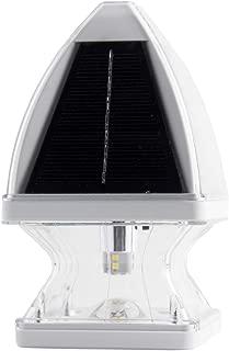 GAMA SONIC Gothic Solar Post Cap Light, Outdoor Accent Lamp, White (GS-143-W)