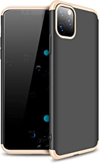 Microsonic 22495 Apple iPhone 11 Pro Max 6.5 inç Kılıf Double Dip 360 Protective Siyah Gold