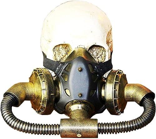 Ofliery Biohazard Steampunk Masque à Gaz Masques Spikes Squelette Guerrier Mort Masque Masvoitureade Cosplay Costume d'halFaibleeen Props