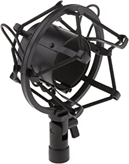 D DOLITY Universal Microphone Shock Mount Holder Anti Vibration Suspension for Condenser Mic, Idea for Radio Broadcasting ...