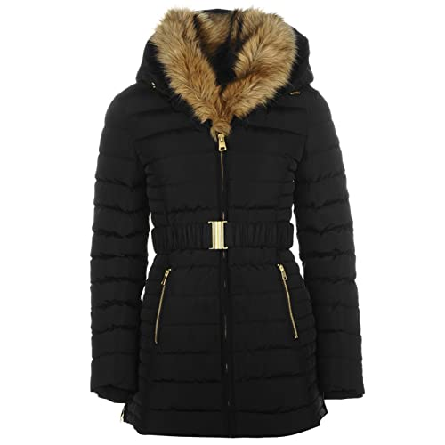 more photos retro super specials Belted Padded Coat: Amazon.co.uk