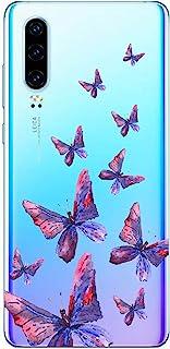 Oihxse Silicone Transparente Case avec Motif Papillon Compatible pour Huawei Honor 7A/Y6 2018 Coque Souple TPU Gel Mode 3D...