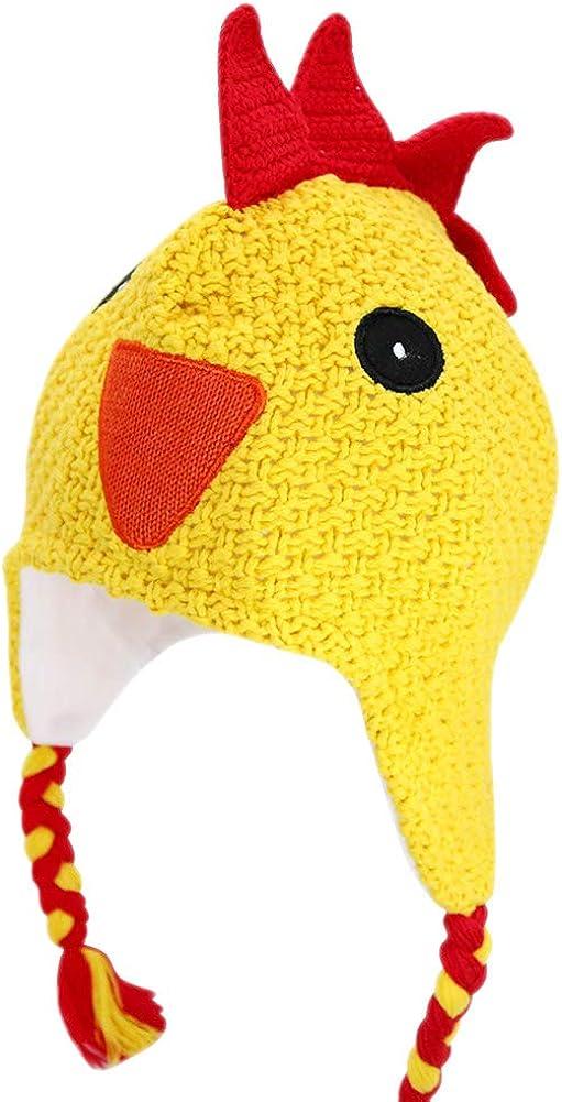 IMLECK Kids Winter Warm Fleece Lined Chicken Knit Special sale item El Paso Mall for Girls Hat