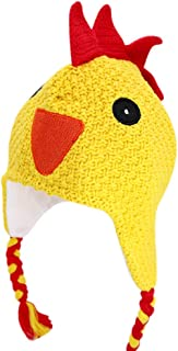 Kids Winter Warm Fleece Lined Knit Chicken Hat for Girls and Boys