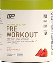 MP All Natural Pre-Workout, Increase Energy, Endurance and Strength - Organic Caffeine, Green Tea, Electrolyte Hydration, Nitric Oxide Booster, Fresh Cut Watermelon, 30 Servings