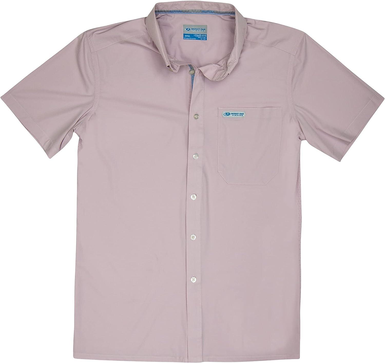 Mossy Oak Men's Inshore Lightweight Short Sleeve Fishing Shirts