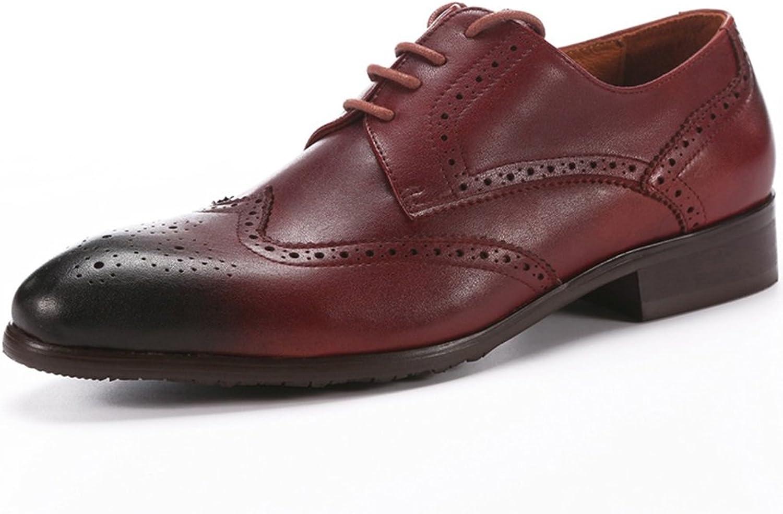 Skor från Gfp Mann's läder skor Formal Formal Formal Business Comfey Mocasins Män's skor Points bilöd skor Classic Lace up läder skor  hitta din favorit här
