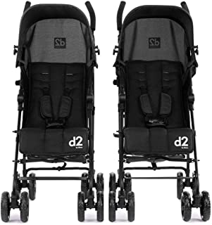 Diono Two2Go Lightweight Stroller, Black (2-Pack)