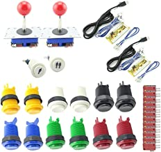 Winit Arcade Button and Joystick DIY KIT for2 Players PC PS/3 2 in 1 to Arcade joystck Interface USB 2 Player to Jamma Joystick&Button [no_Operating_System] …