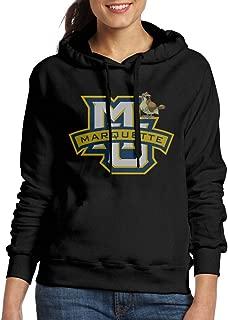 Women's Marquette Golden Eagles Pidgey Hooded Sweatshirt Black