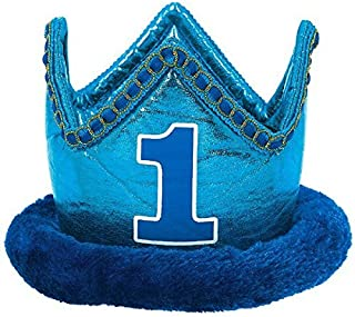 1st Birthday Novelty Crown with Elastic String