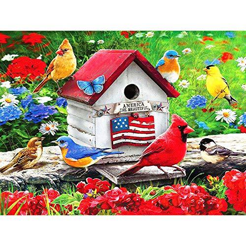 Murturall 5D diamantschilderij volledige vierkante dril dier vogel en bloem strass afbeelding nationale vlag huis diamant mozaïek borduurwerk