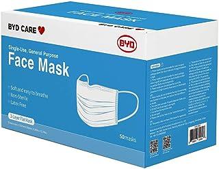 BYD Procedural Mask (Non Sterile), Blue (50 Masks/Box)