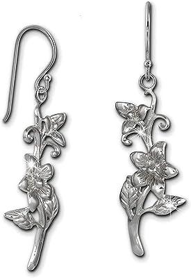 SilberDream orecchini fatti a mano fiore Jasmin {} argento per donna orecchini sdo470j