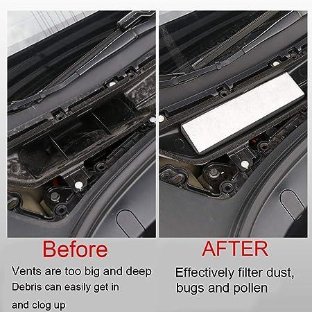 Vaorwne Luft Einlass Filter Kabinen Luft Einlass Mit Aktiv Kohle Klimaanlage Luft Einlass Abdeckung Für Tesla Model 3 2017 2019 Auto