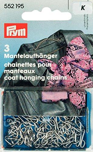 Prym Mantelaufhänger, Mantelkette, silberfarben, 3Stück