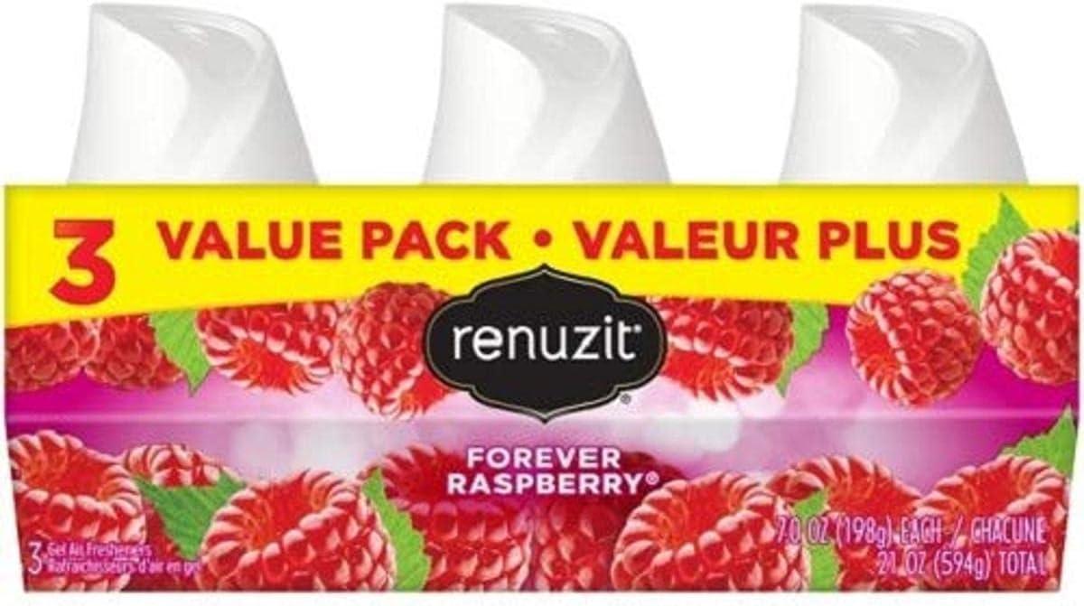 Renuzit Aroma Adjustables Airfreshner, Raspberry, 3 pk