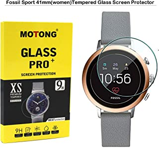 MOTONG for Fossil Sport 41mm Screen Protector - MOTONG Tempered Glass Screen Protectors for Fossil Sport 41mm Watch,9 H Hardness,0.3mm Thickness,Made from Real Glass