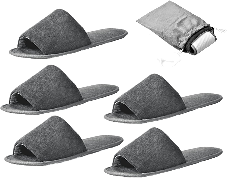 NewYork Foldable Women Men Spa Slippers Flip Flops Open Toe Washable Portable Pocket Sandals