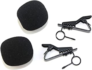 Weymic® 2pcs Ring-type Lapel / Lavalier Microphone Tie Clip, 2-pack (Black) for Sennheiser Microphone Tie Clip Replacement / Spare Microphone Clip for Me2 Lavalier Microphone