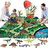 OBEST Juguetes Conjunto de Dinosaurios, con Huevos de Dinosaurio, 22PCS Juguetes Educativos de...