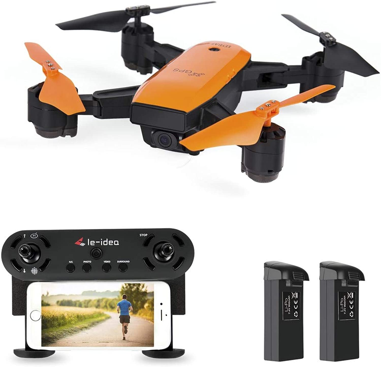 Dkings IDEA7 RC Quadcopter Selfie Drohne, 2.4GHz GPS FPV 720P HD Camera WiFi Foldable RC Aircraft Quadcopter mit Altitude StabilisationRemote Control Geschenkspielzeug