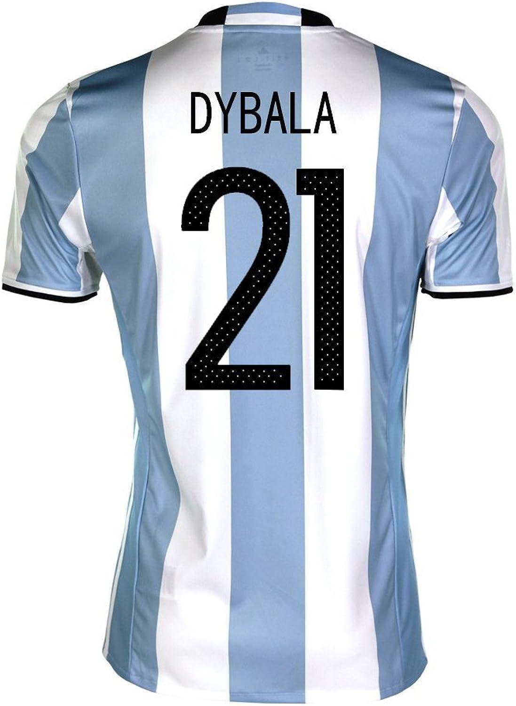 Dybala  21 silverina Home Soccer Jersey Copa America Centenario 2016