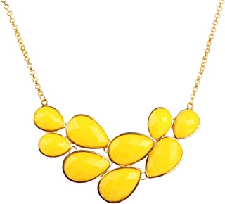 Jane Stone Bubble Bib Chunky Necklace Fashion Jewelry Statement Necklace Party Jewelry(Fn0564)