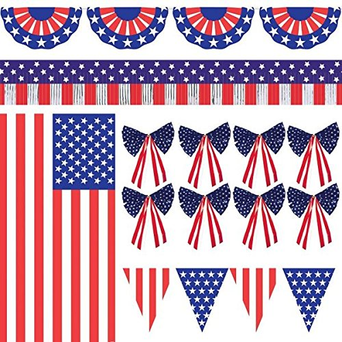 Patriotic Fourth of July Party Ultimate Outdoor Decorating Kit
