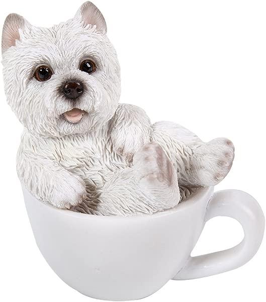 太平洋礼品西部高地梗 Westie 可爱迷你茶杯宠物朋友小狗收藏品 3 25 英寸