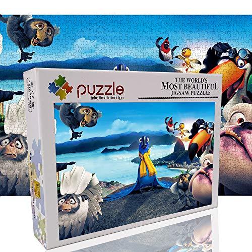 Classic Puzzle 1000 Piezas Rompecabezas para niños Rio Loro Juegos educativos Rompecabezas El Regalo Ideal para aliviar el aburrimiento Juguetes (70x50cm)