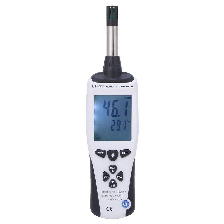 EVTSCAN ET-951 Portable Large discharge Limited price sale Handheld Digital Thermometer Hygrometer