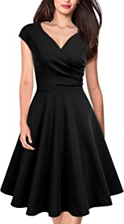 Best deep v neck fit and flare dress Reviews