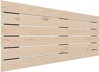LA WEB DEL COLCHON - Cabecero de Madera Rústico Campagne para Cama de 150 (160 x 74 cms) Crudo sin Pintar
